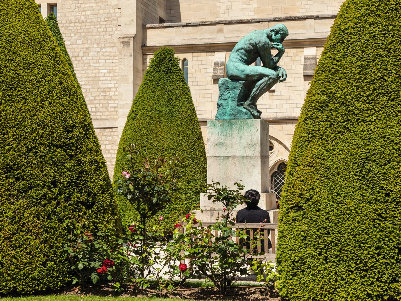 The Thinker statue at Musee Rodin