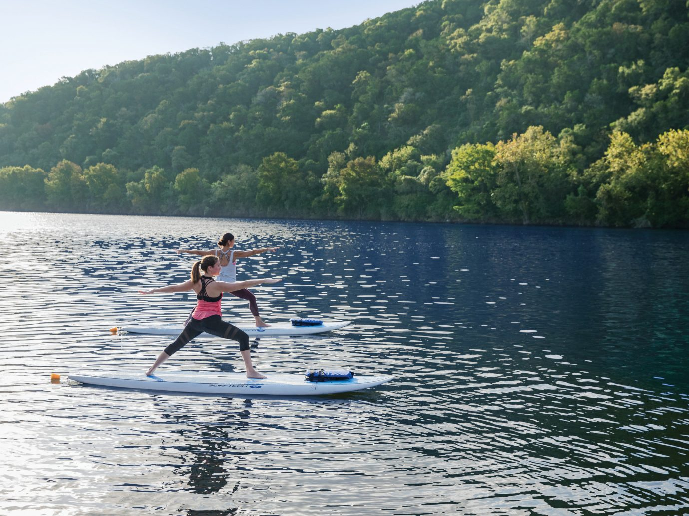 paddle boarding at Lake Austin Spa Resort