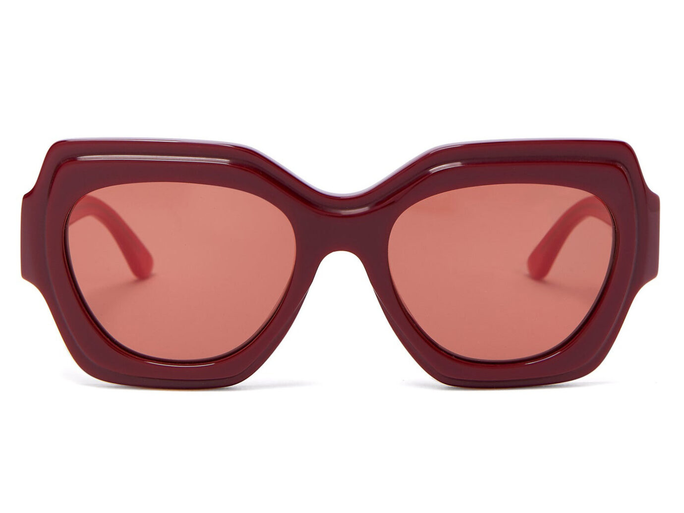 Bi-colour square acetate sunglasses