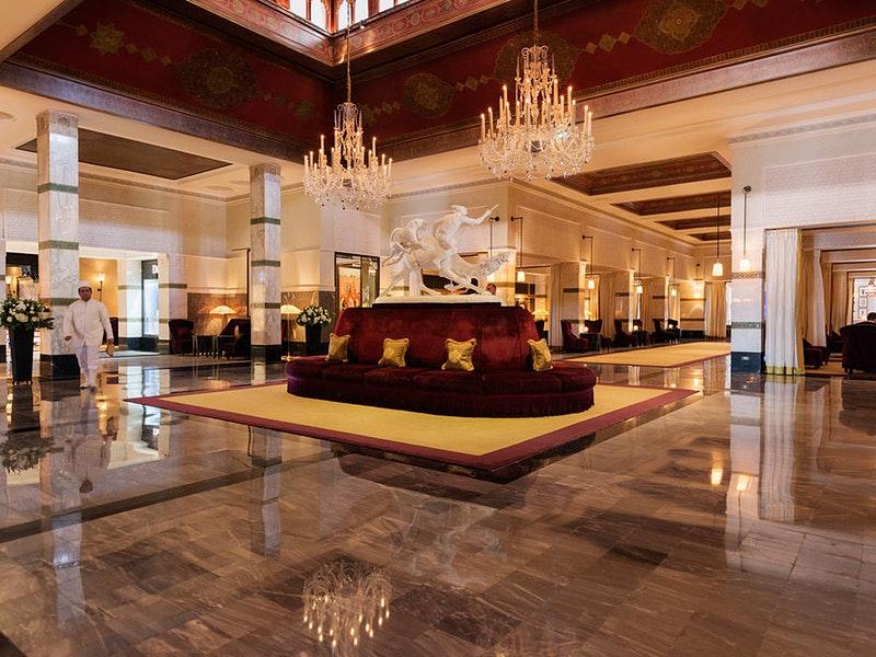 Lobby of La Mamounia in Marrakech