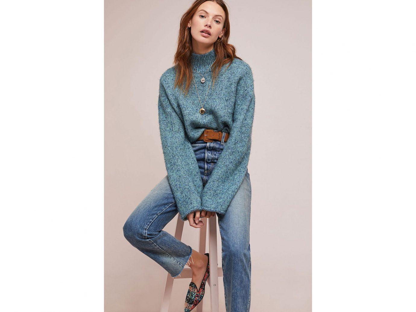 Anthropologie Sparkle Knit Turtleneck Sweater