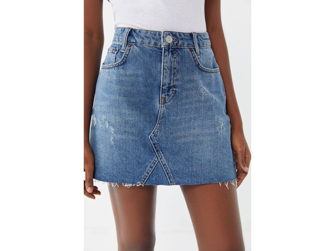 BDG Re-Made Denim Mini Skirt