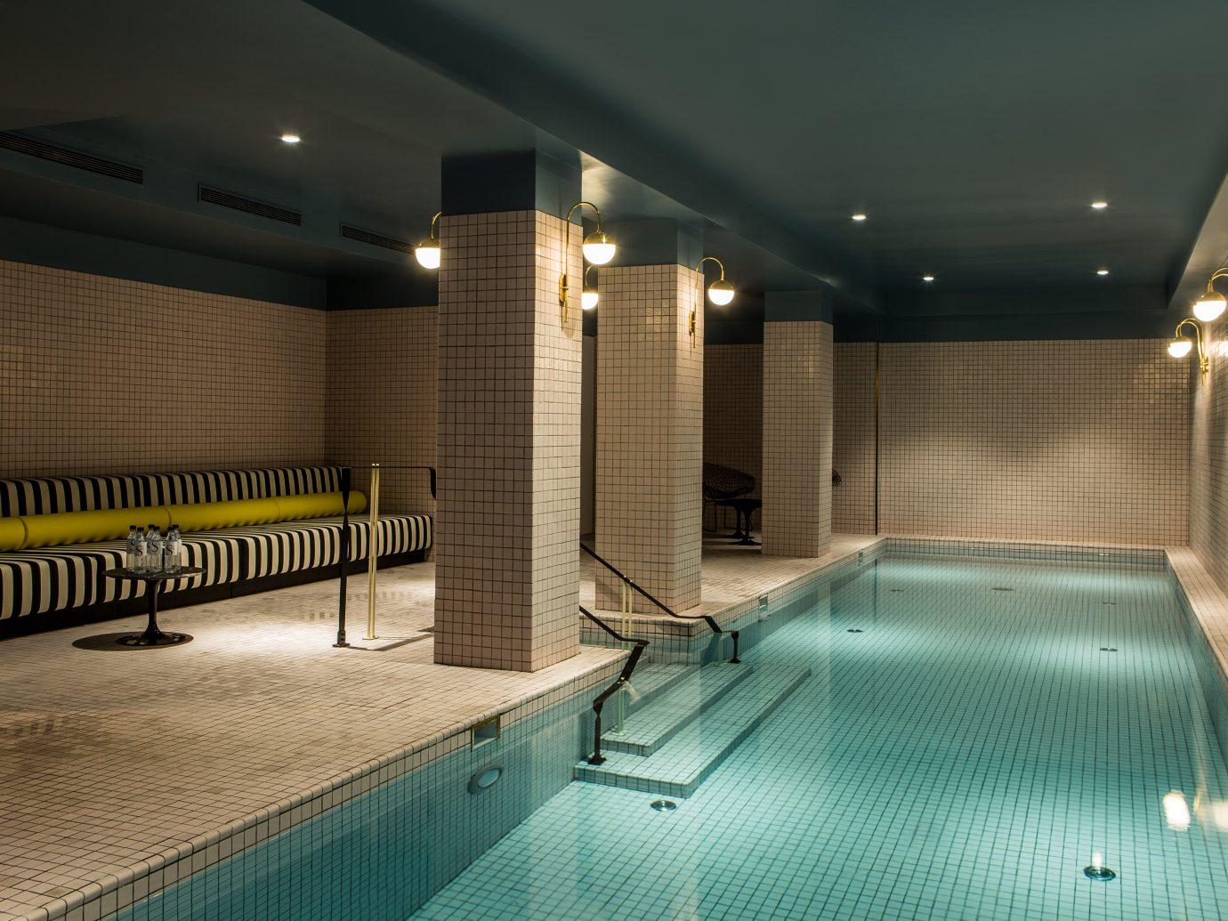 indoor pool at L'Hôtel du Rond Point des Champs Elysées