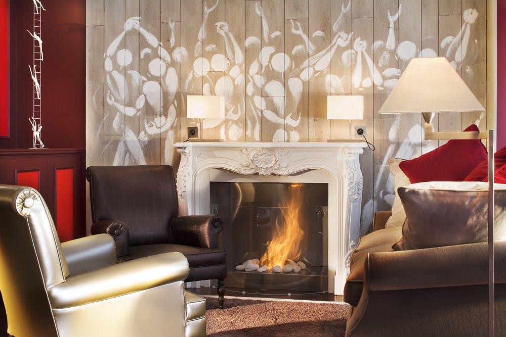 Lounge of Hôtel des Academies et des Arts