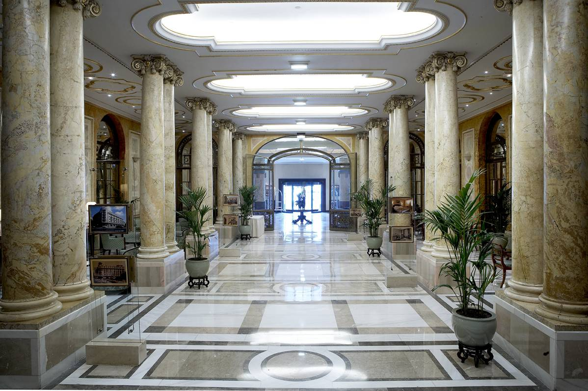 Lobby of Athenee Palace Hilton Bucharest