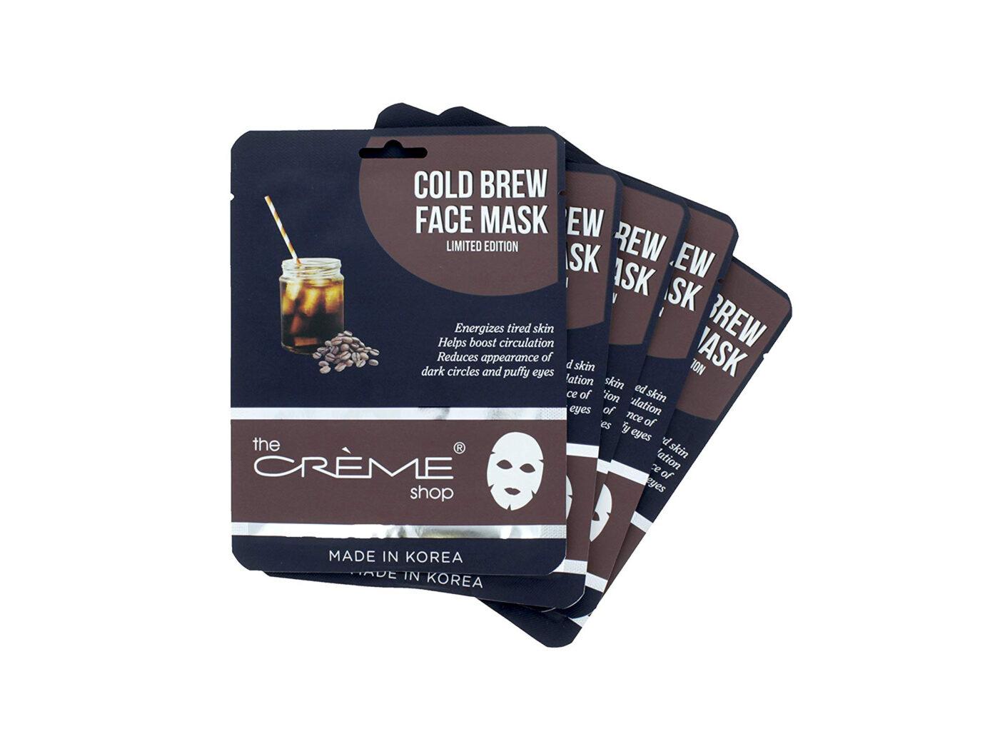 The Crème Shop Cold Brew Face Mask 5 Piece Set