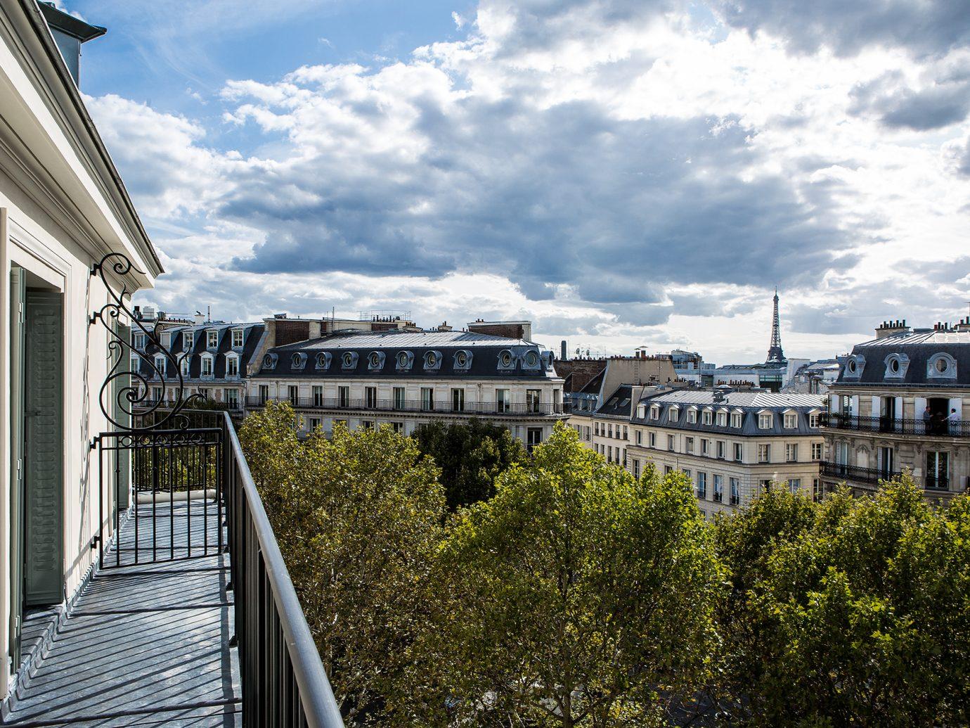 Balcony view at the Hotel Fauchon