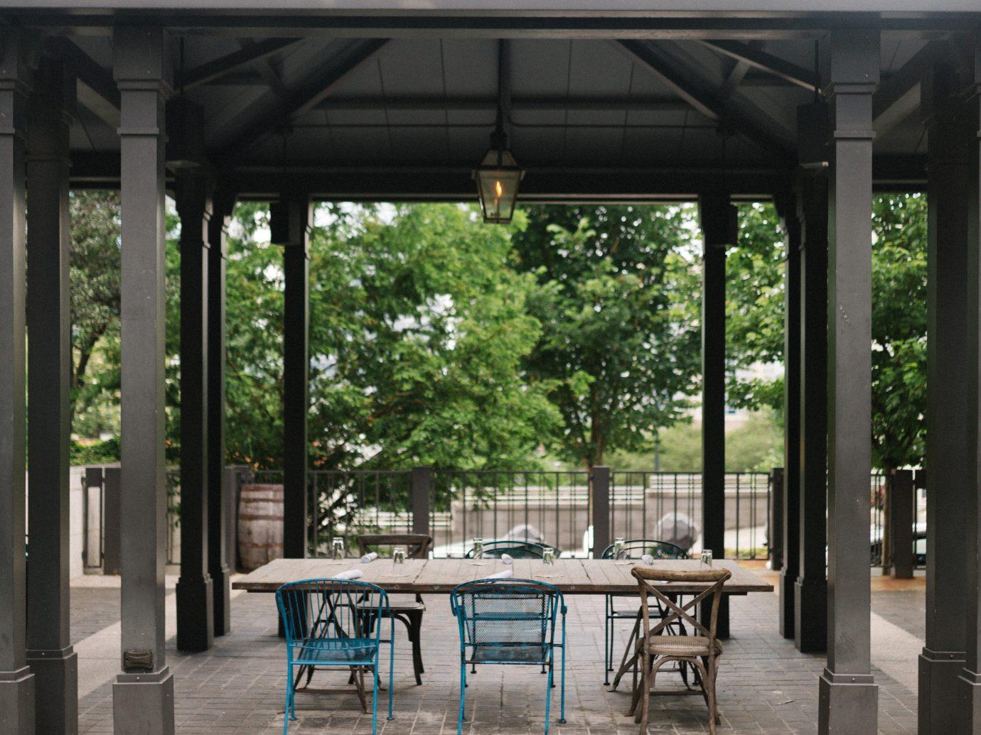 Bocce ball patio space
