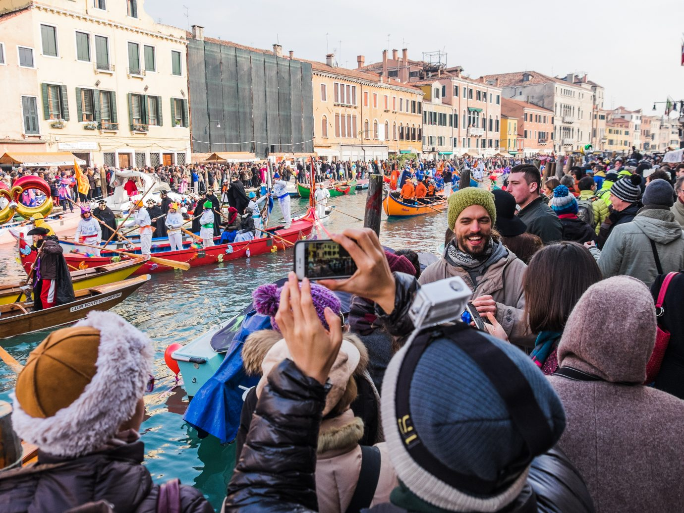 Venetian Festival on the Water in Cannaregio as Venice Carnival celebrations.