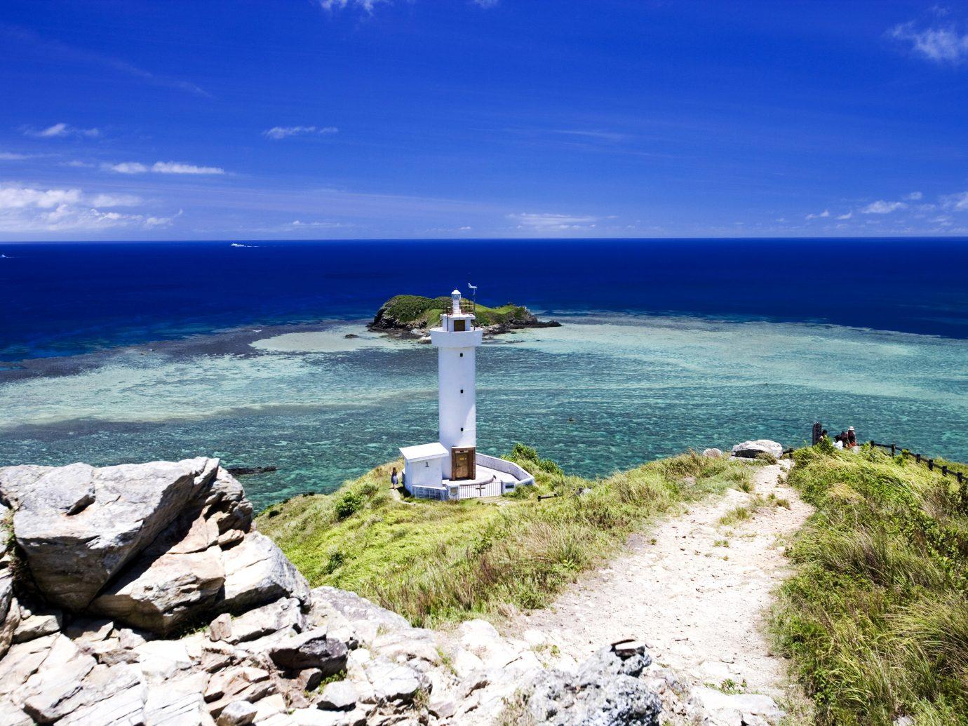 Lighthouse hirakubo and sea