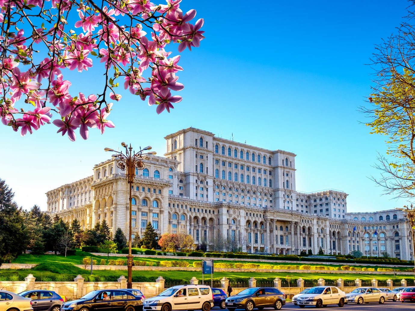Spring near the the Palace of Parliament in Bucharest, Romania