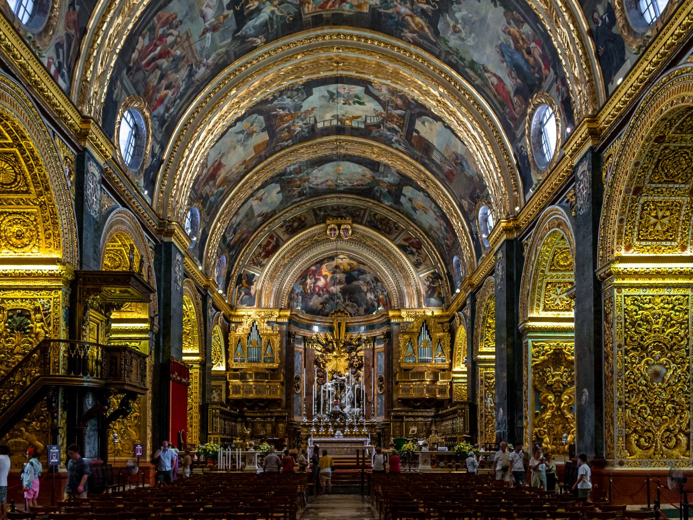 Interior of St John's Co-Cathedral - Valletta, Malta