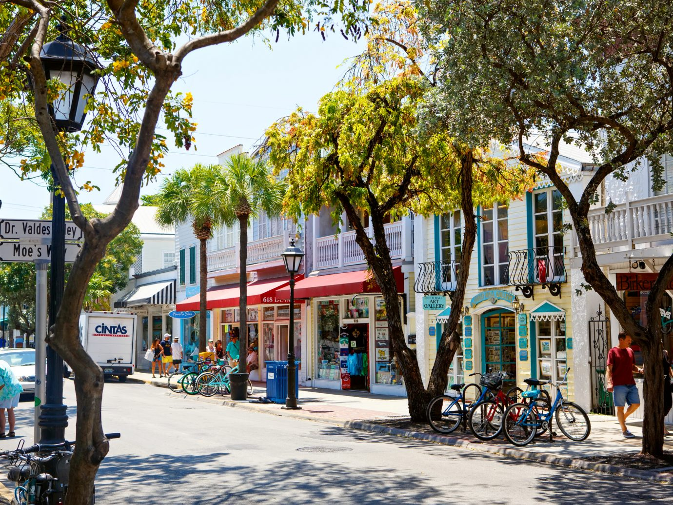 Key West: The historic and popular center and Duval Street in downtown Key West.