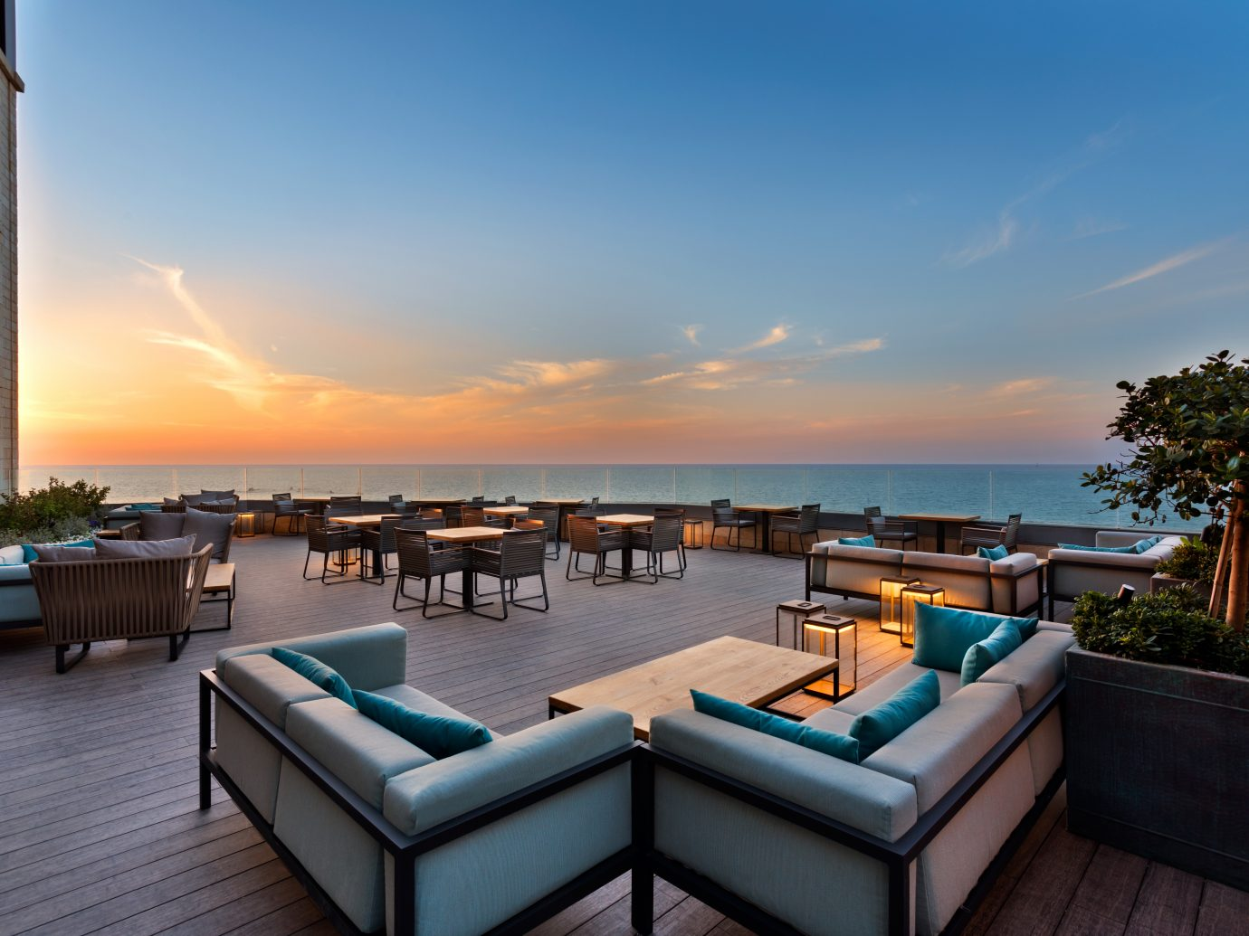 patio at Setai Tel Aviv, Israel