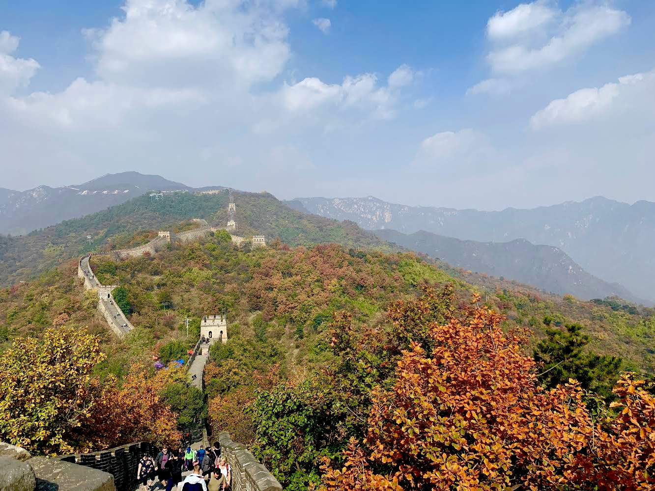 View of the great wall during autumn