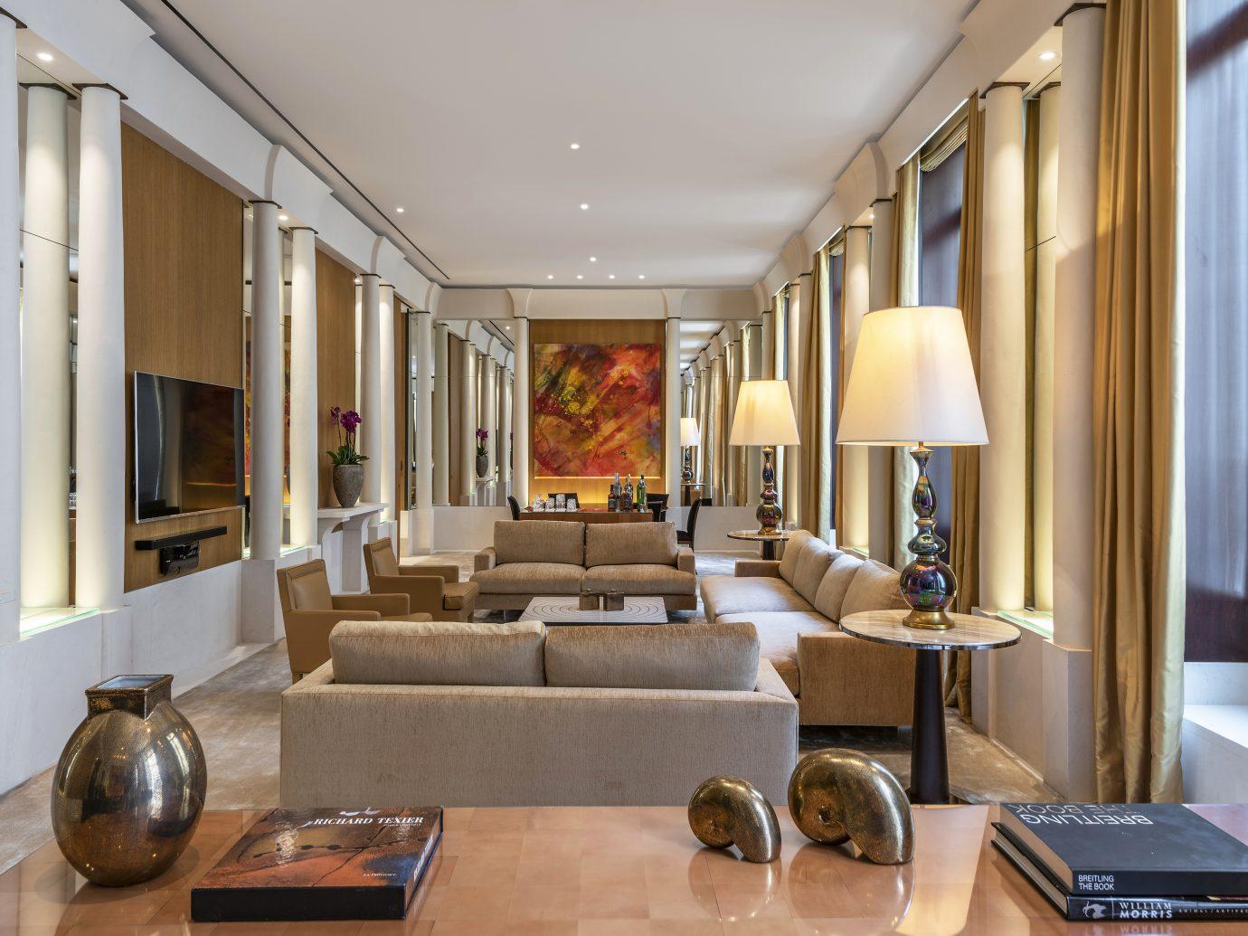 Living room of the Imperiale suite at Park Hyatt Paris Vendome