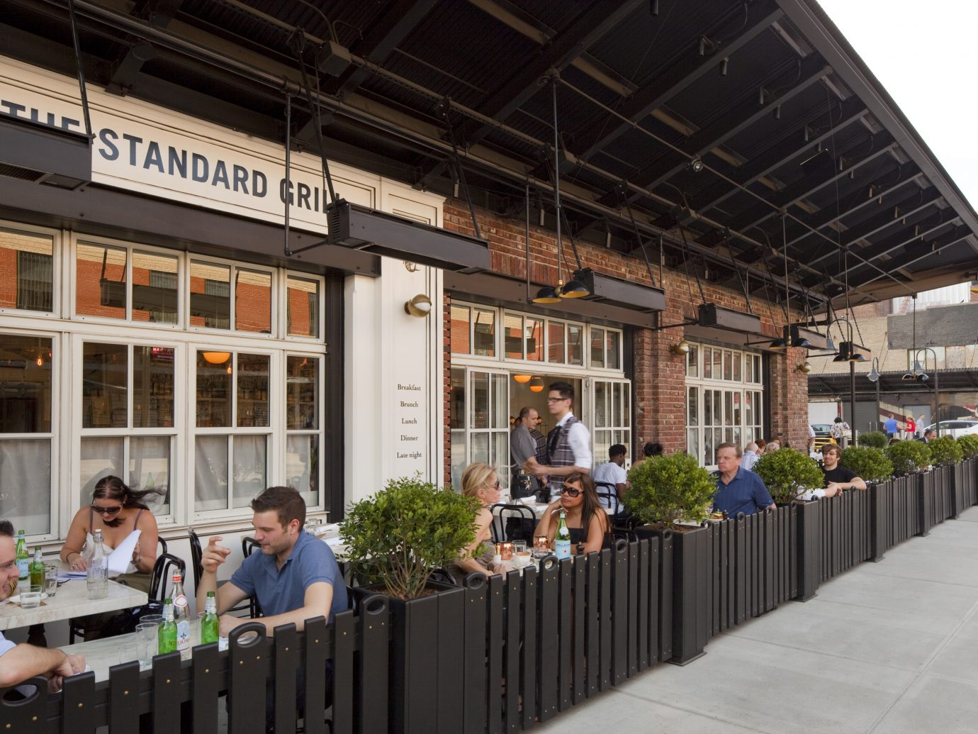Outdoor eating at The Standard Grill
