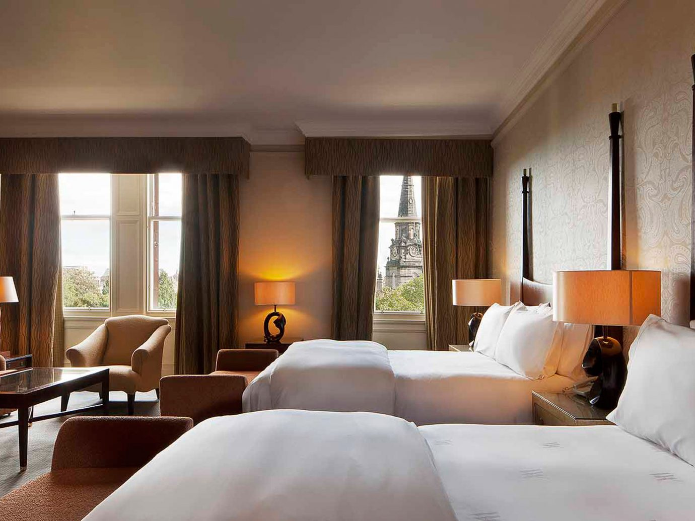 Bedroom at Waldorf Astoria Caledonian
