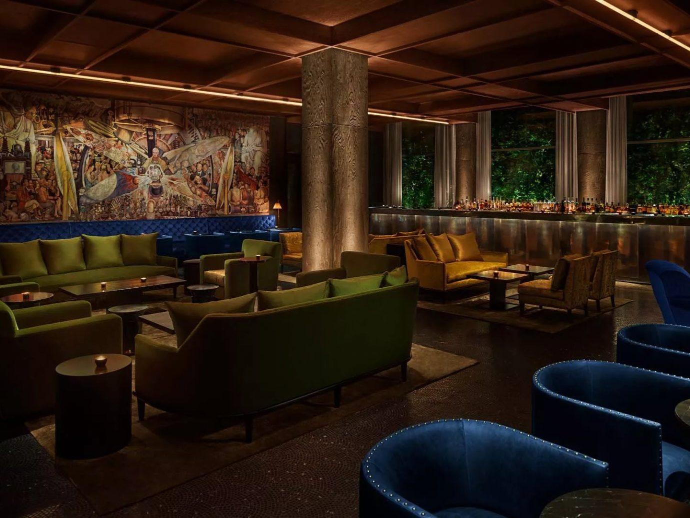 interior of bar space