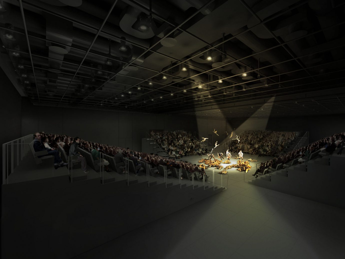 shed theater interior rendering