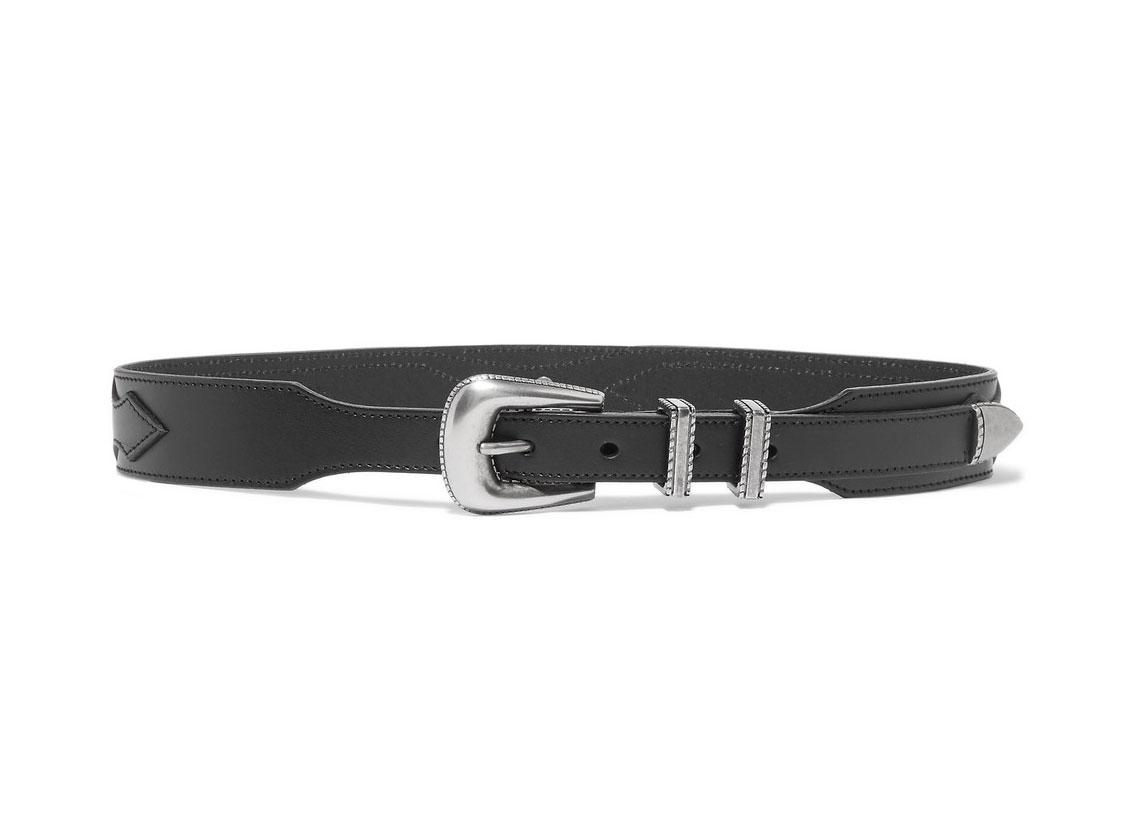 Saint Laurent Leopard-print Calf Hair-trimmed Leather Belt