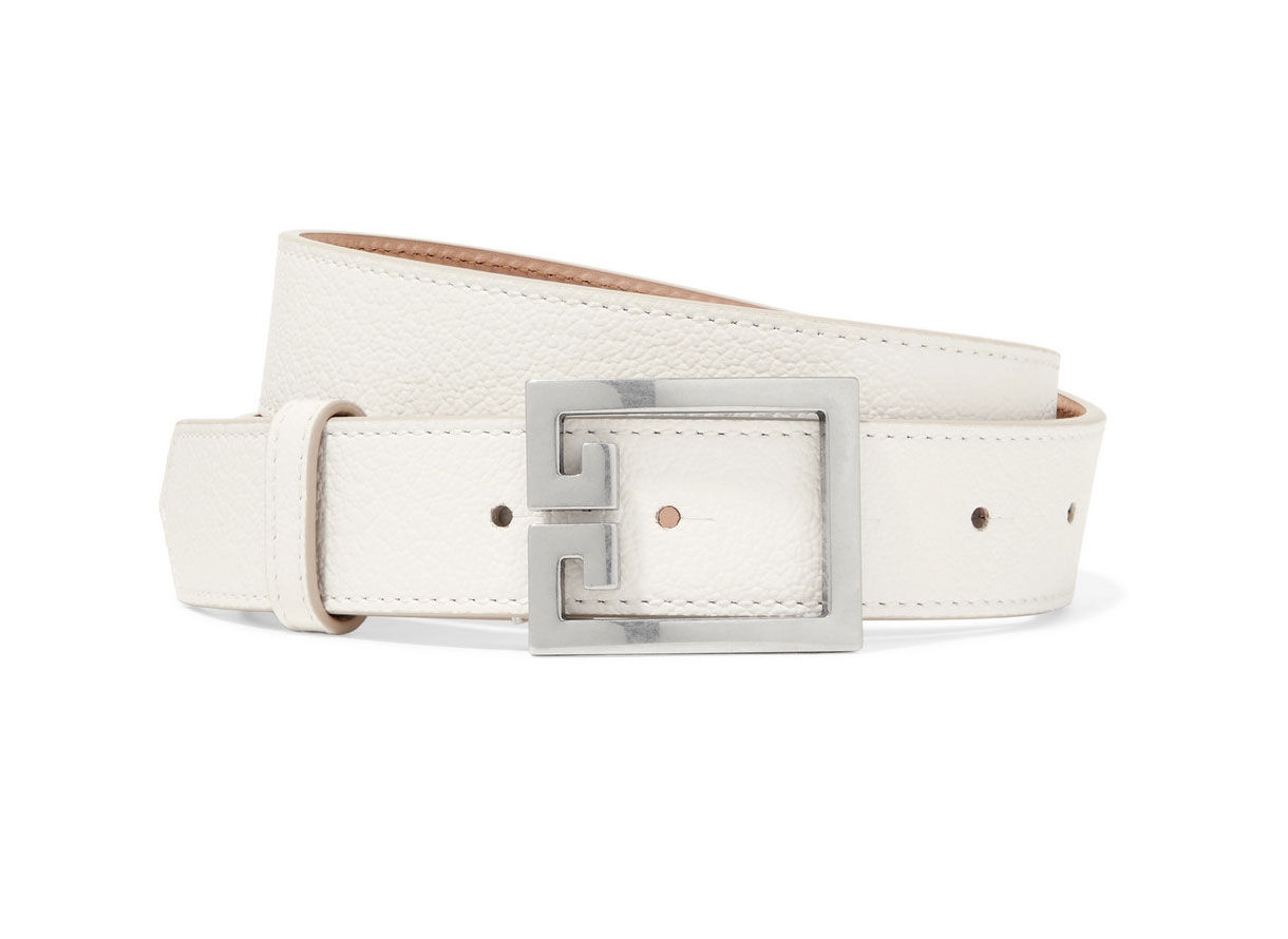 Givenchy GV3 Textured-leather Belt