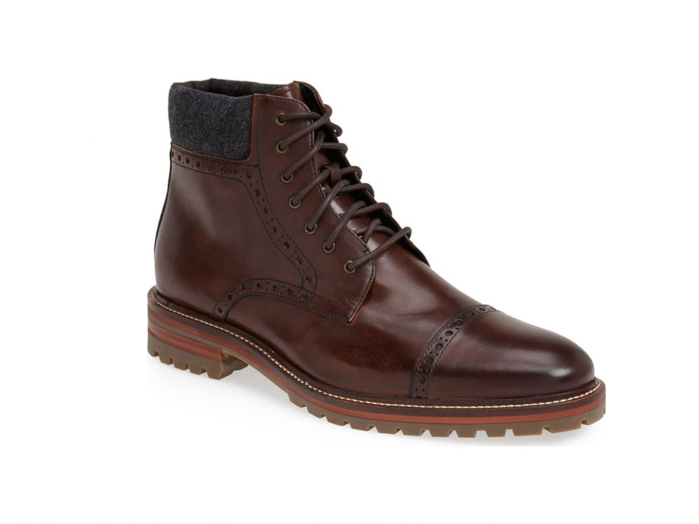 J&M 1850 'Karnes' Brogue Cap Toe Boot