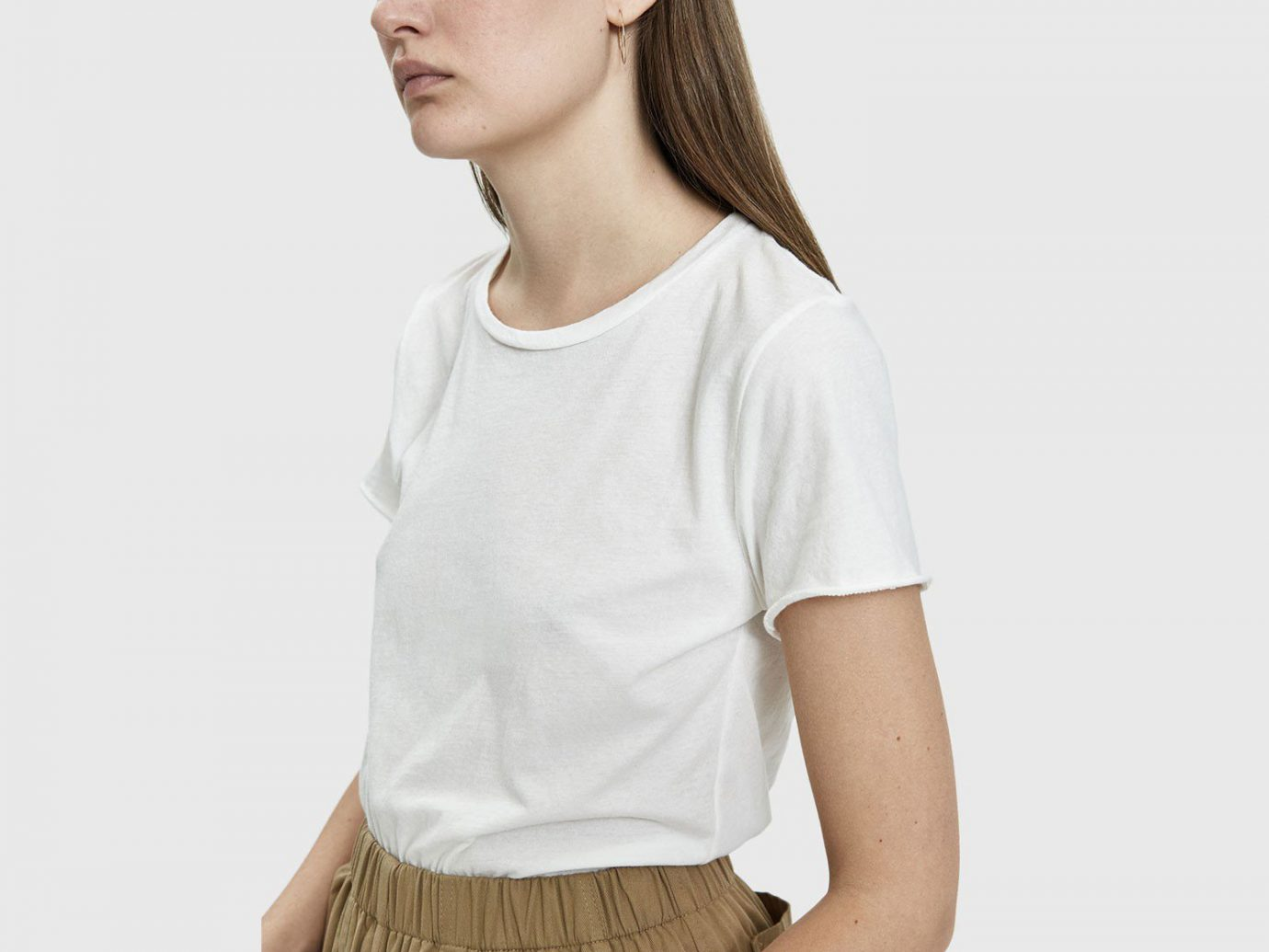 Which We Want Beverly Worn Tee in Vintage White