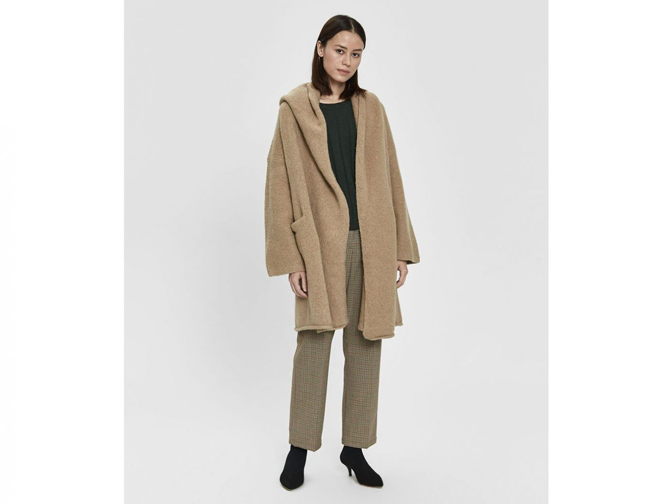 Lauren Manoogian Capote Shawl Coat in Sand