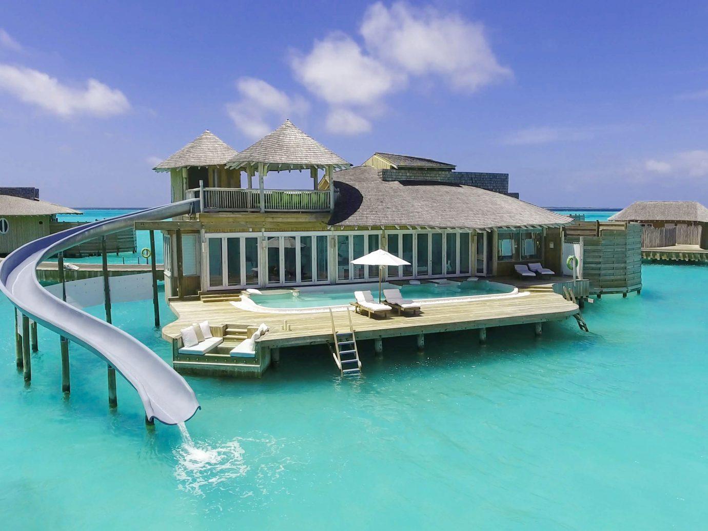 Aerial view of Soneva Jani Resort