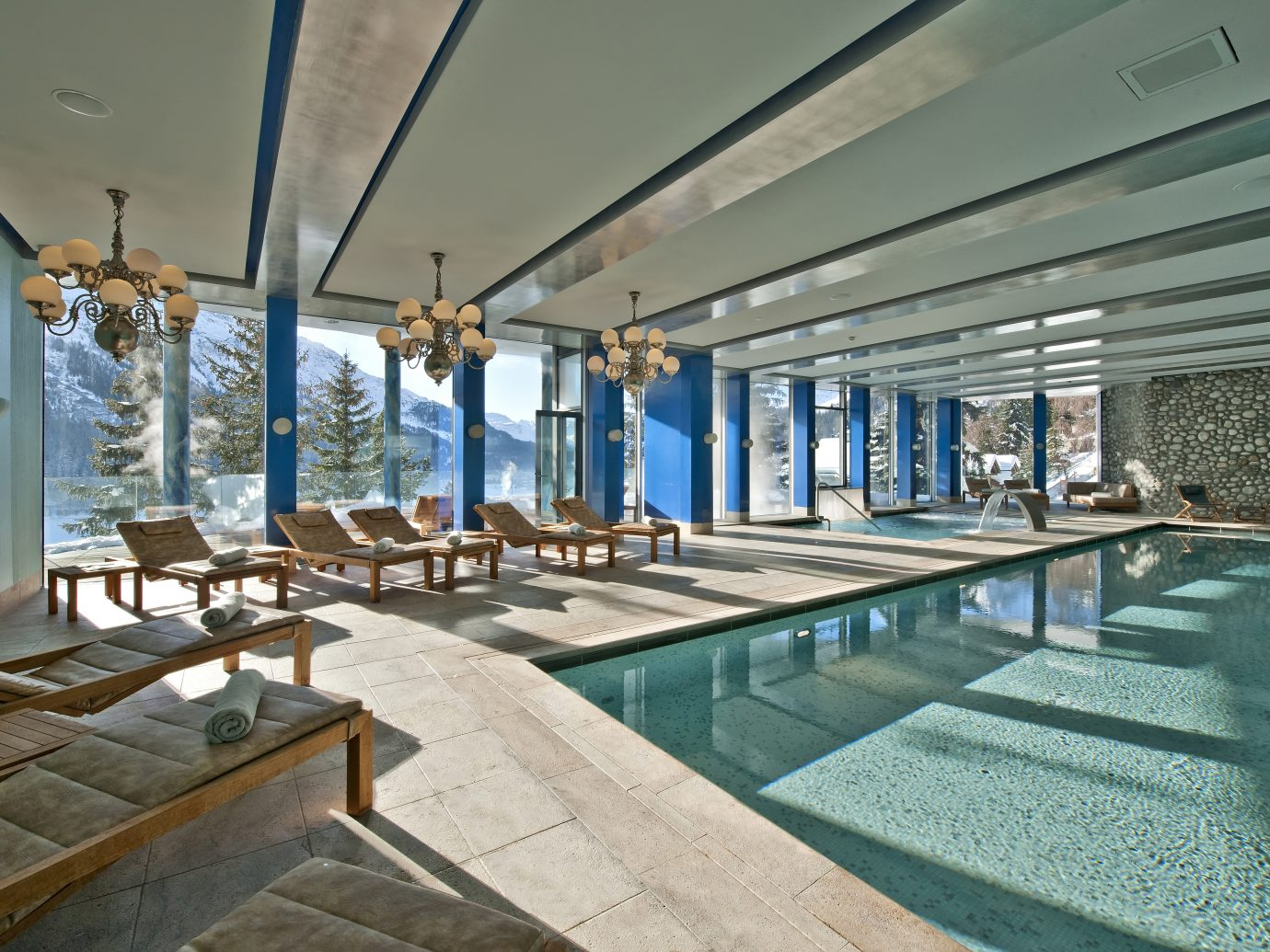 Pool at Carlton Hotel in St. Moritz