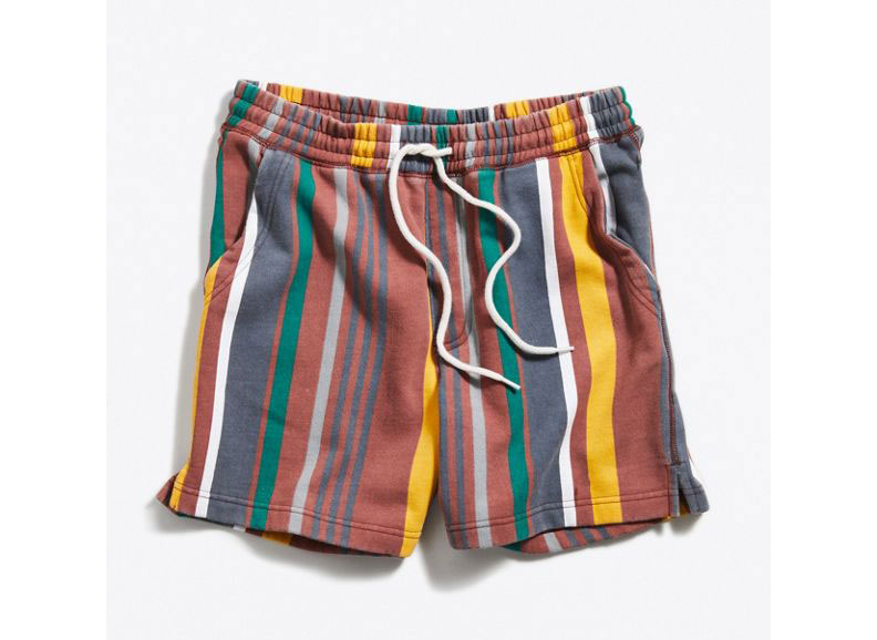 UO Lucien Stripe Knit Volley Short
