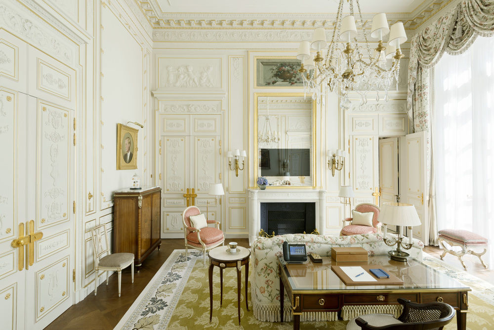 Living room at Ritz Paris
