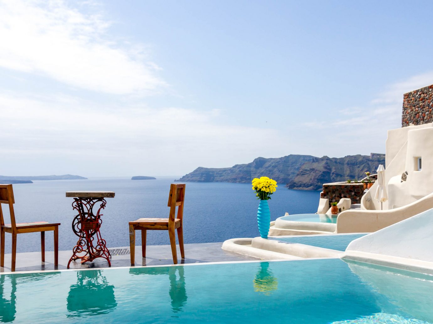 Infinity pool at Andronis Boutique Hotel, Santorini, Greece