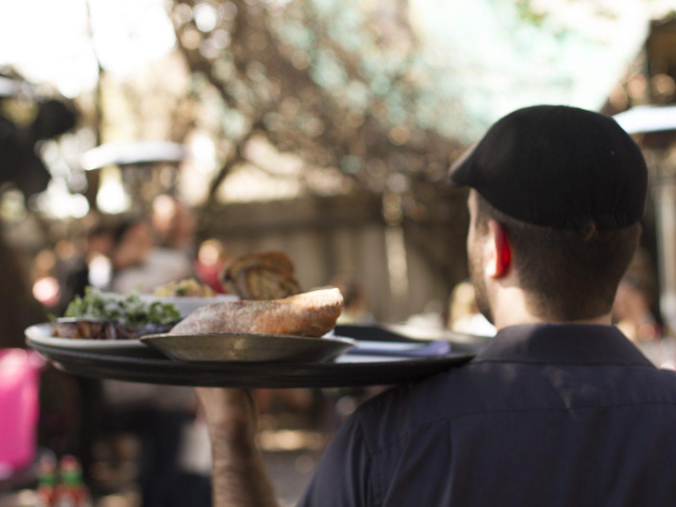 tray of food outdoors at Bacchanal