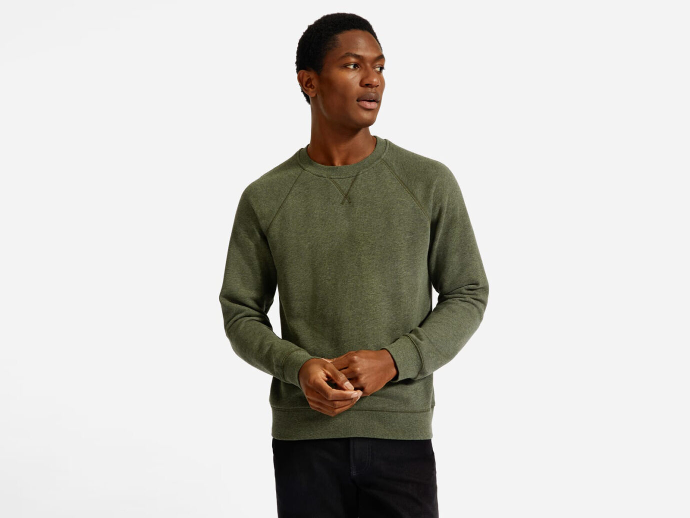 Everlane Men's Lightweight French Terry Crew