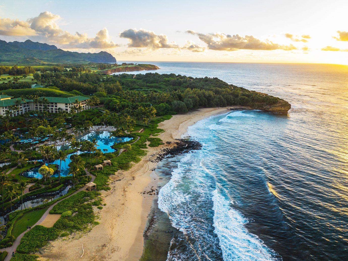 beach at Grand Hyatt Kauai Resort & Spa