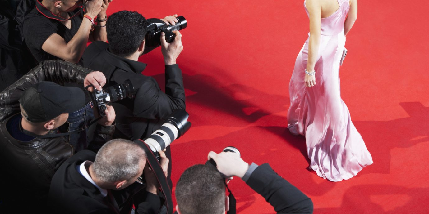 Paparazzi taking pictures of celebrity on red carpet at the 2019 Oscars / Academy Awards