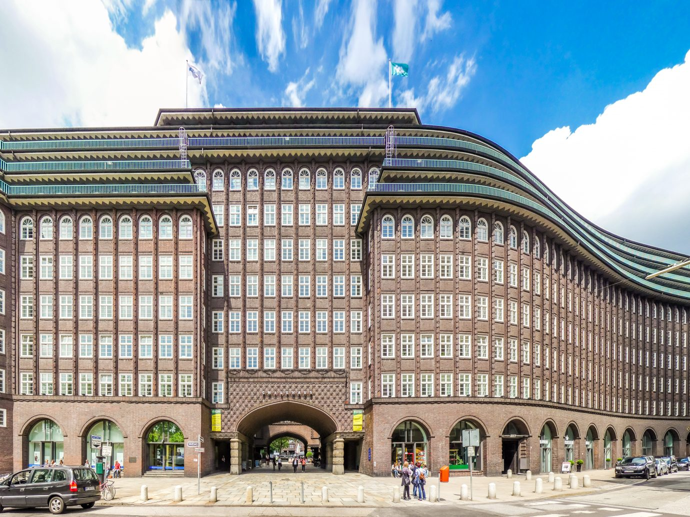 Wide angle view of famous Chilehaus