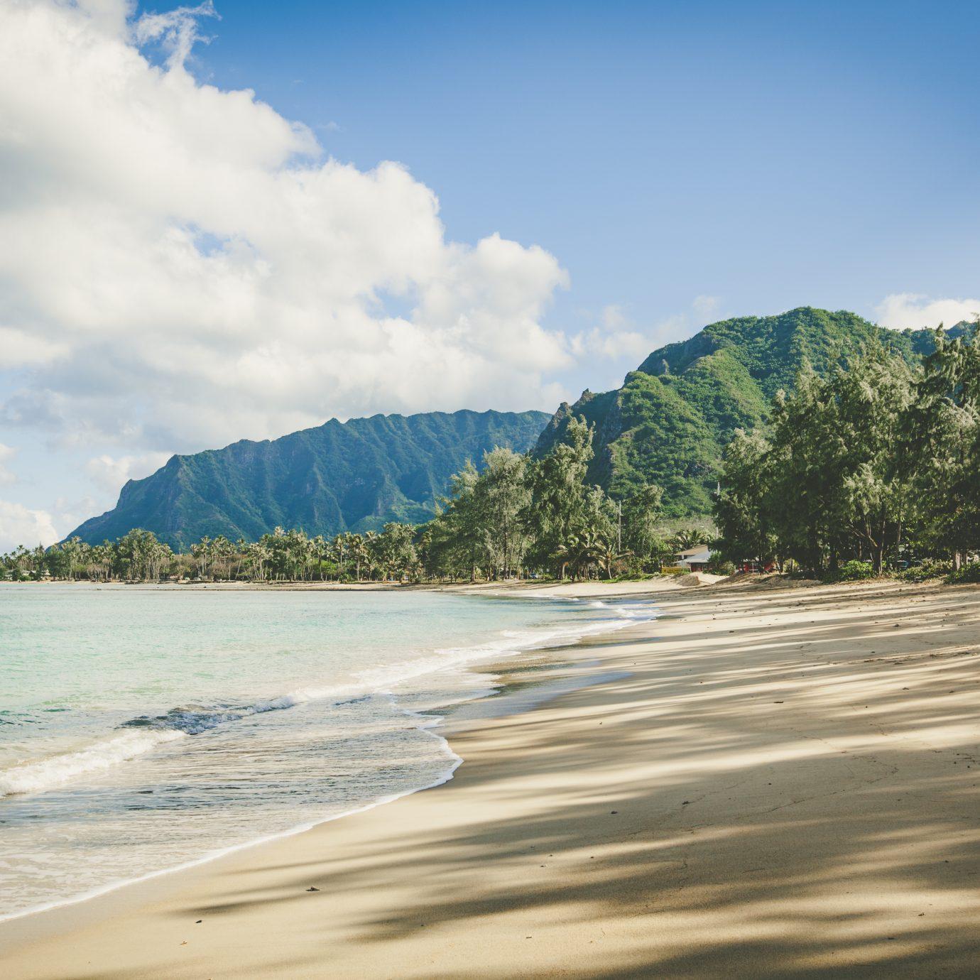 beach on oahu island, hawaii islands.