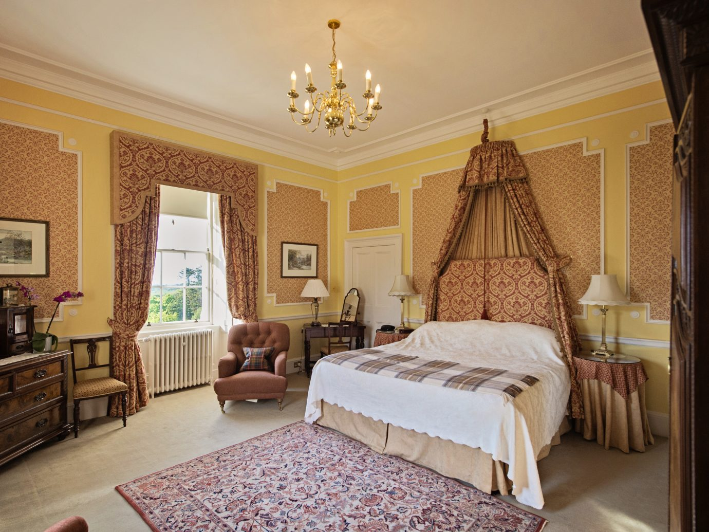 Bedroom at Glennapp Castle