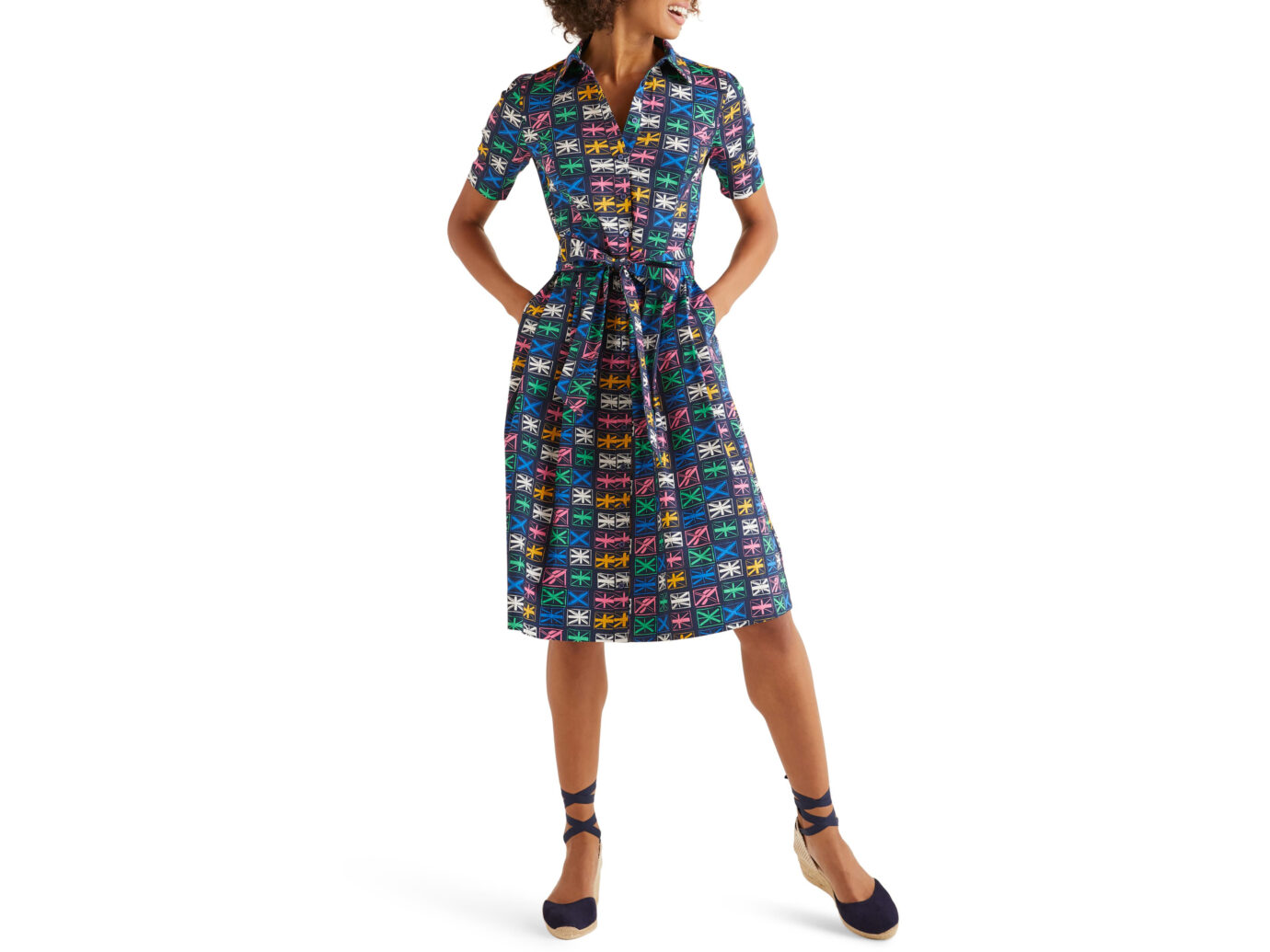 Boden Anatasia Fit & Flare Shirtdress