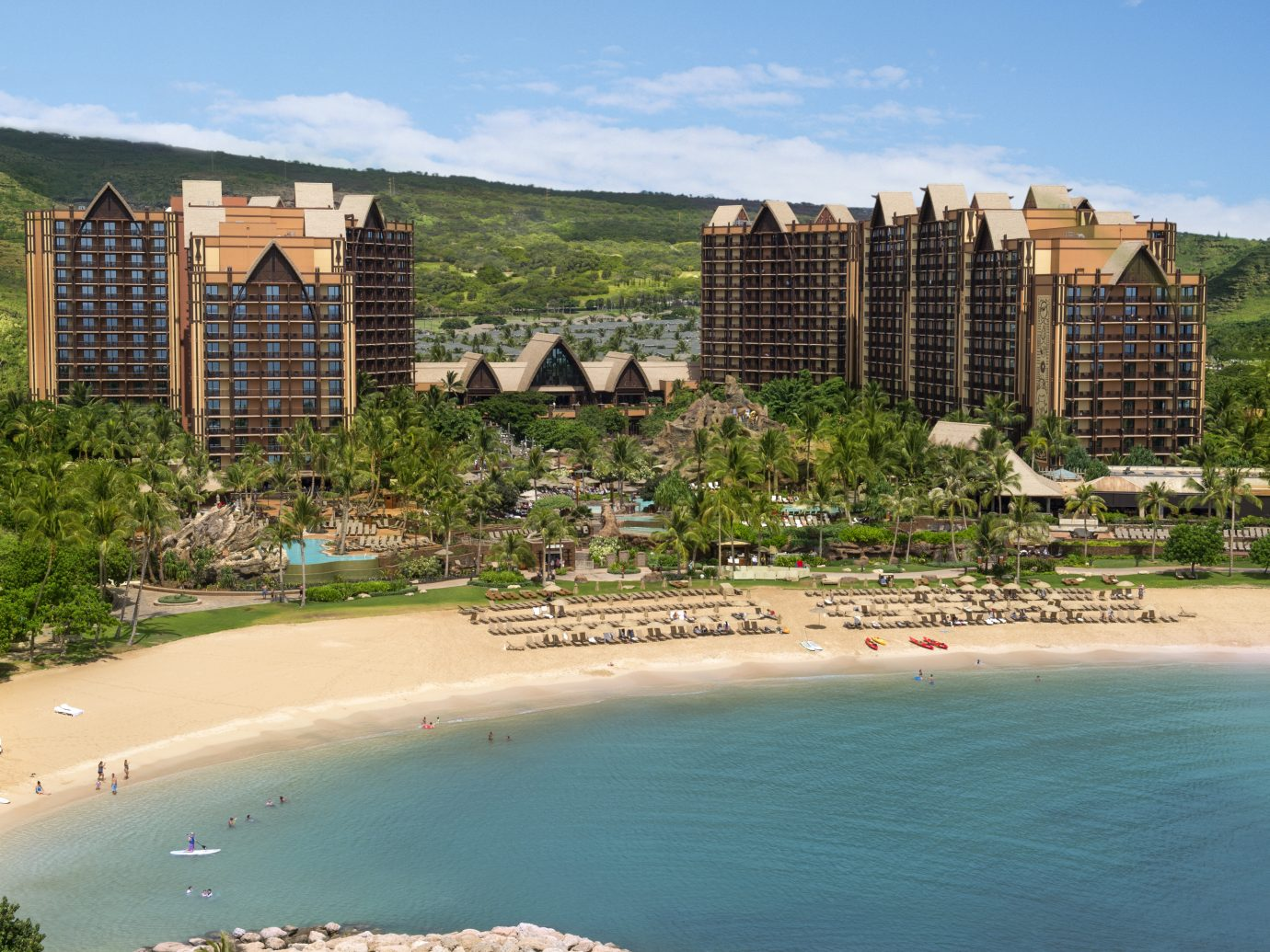 Aerial view of Aulani resort