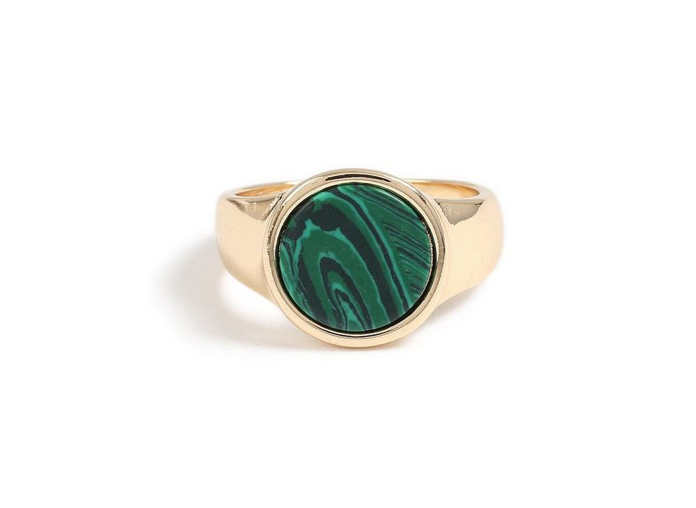 Topman Green Stone Ring