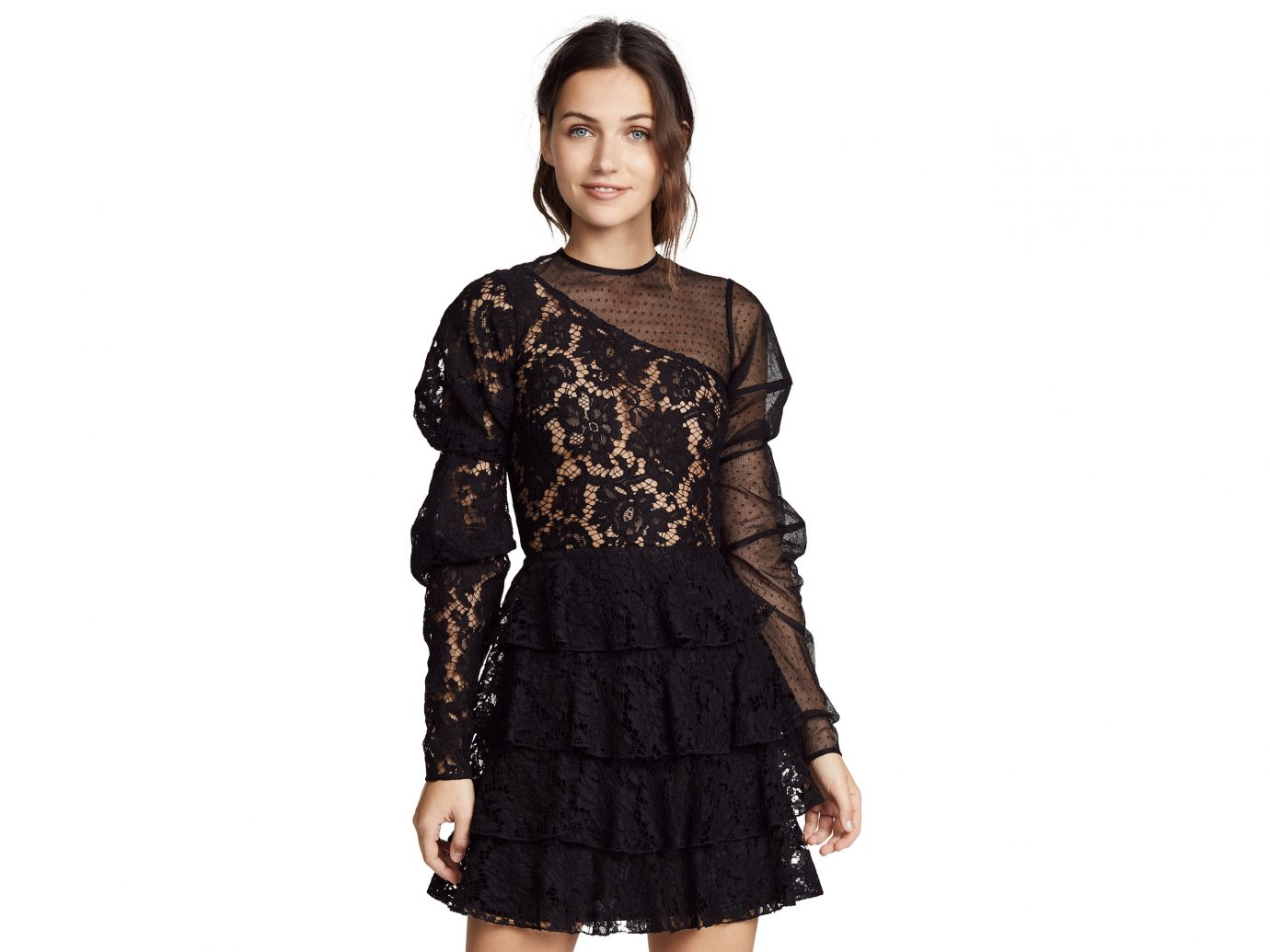 Ewa Herzog Lace Mesh Combo Dress