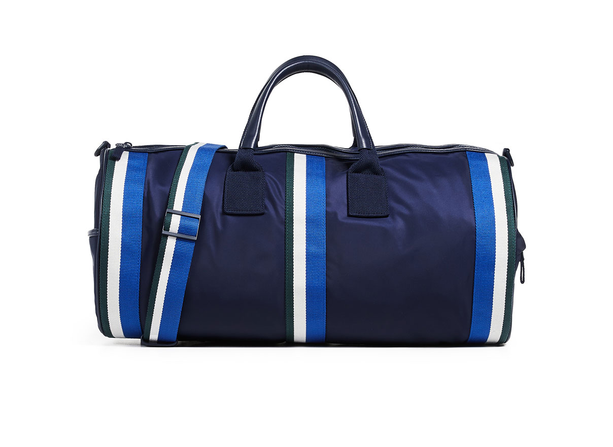 Tory Sport Retro Striped Weekender Duffel Bag