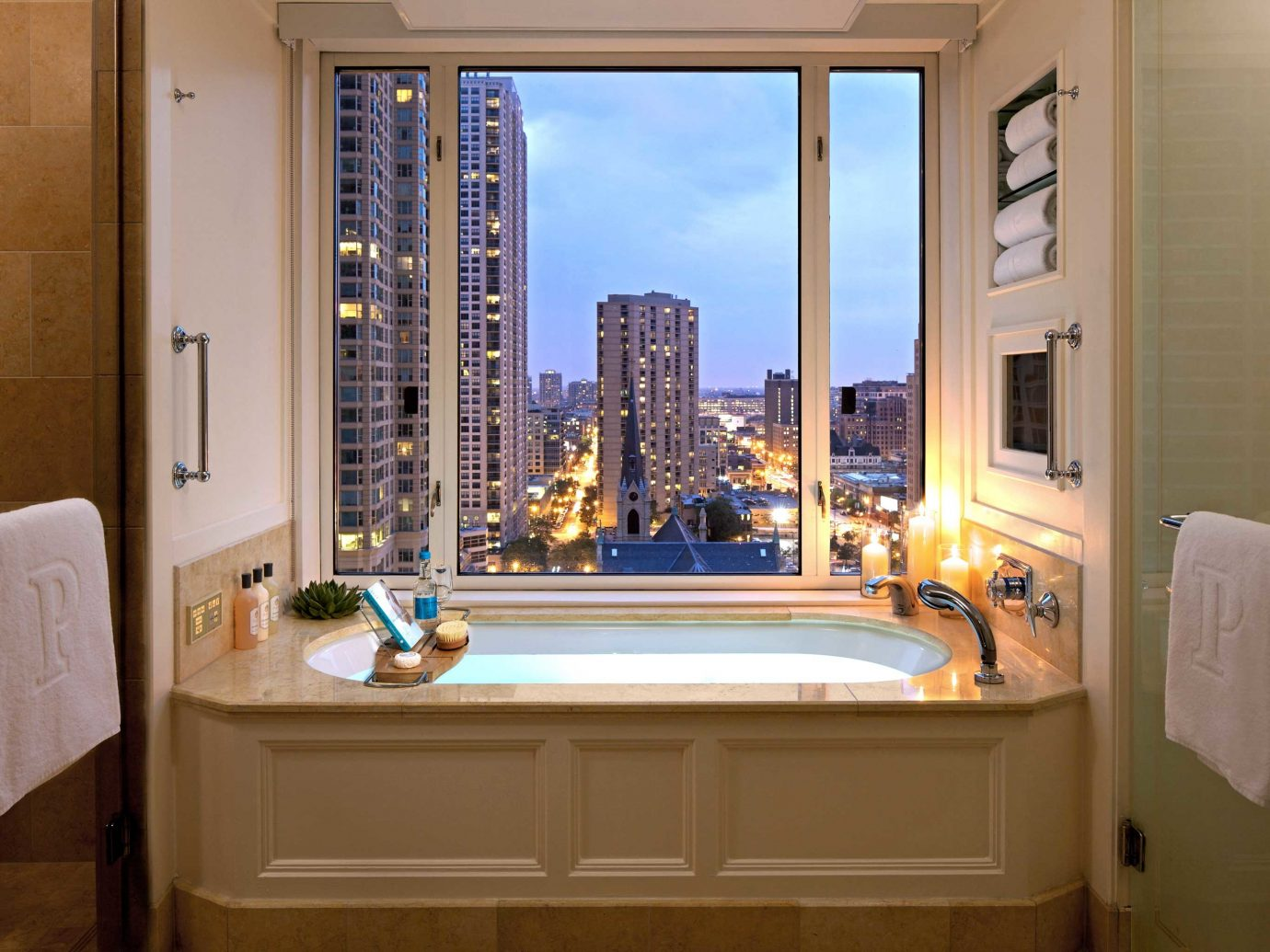 Bathroom at Peninsula Chicago