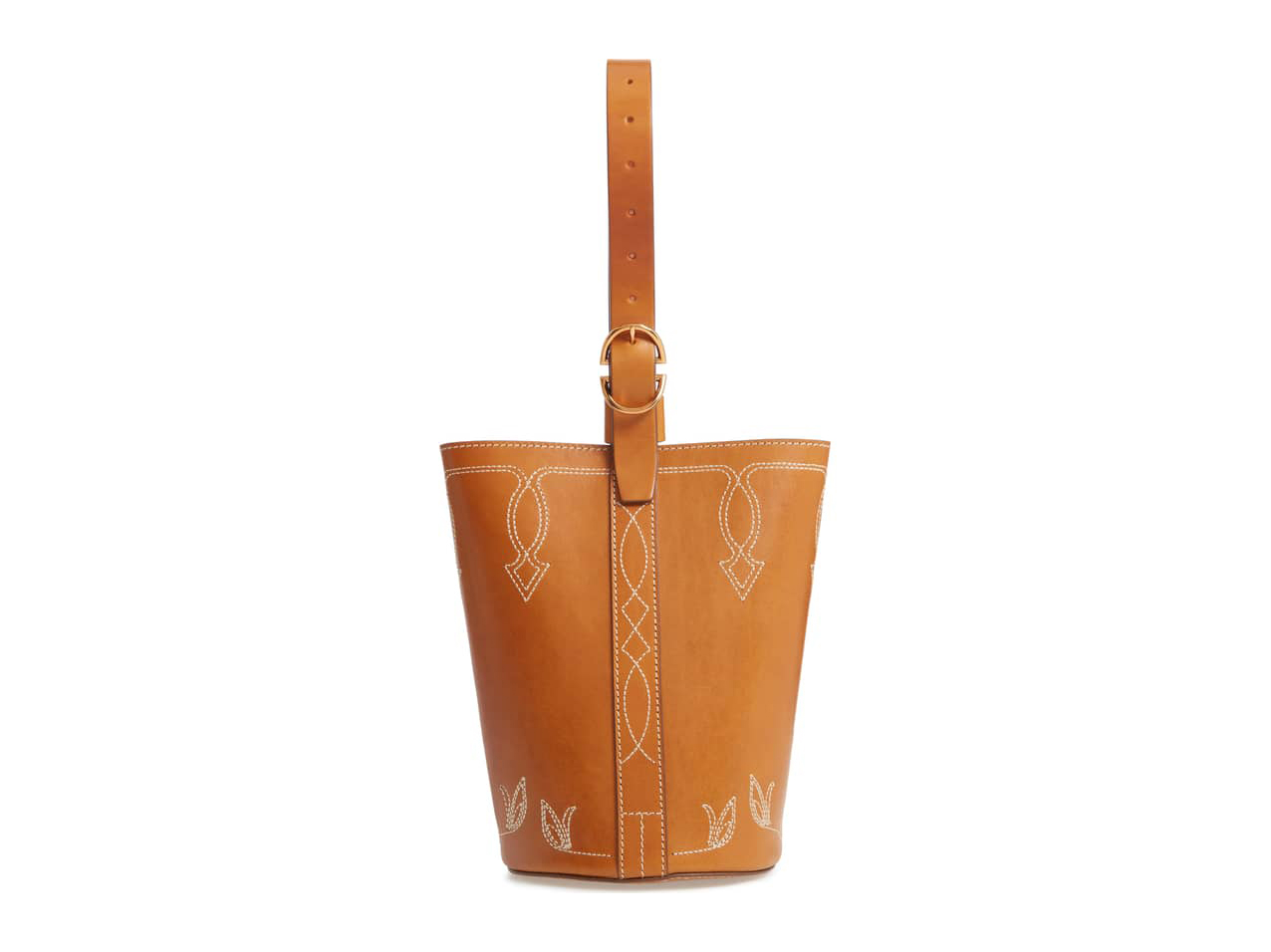 Trademark Small Western Leather Bucket Bag