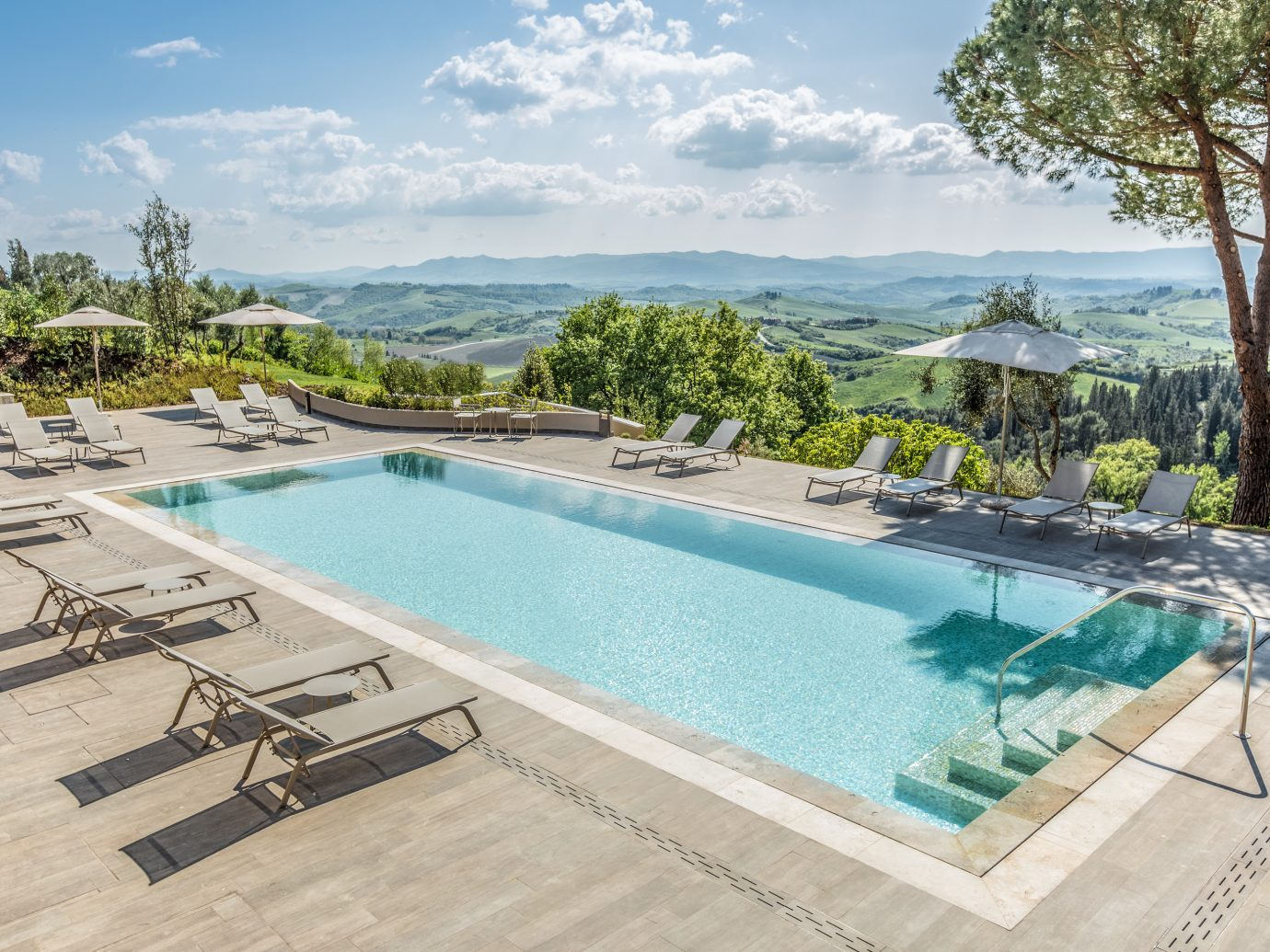 Pool at Hotel Il Castelfalfi in Tuscany