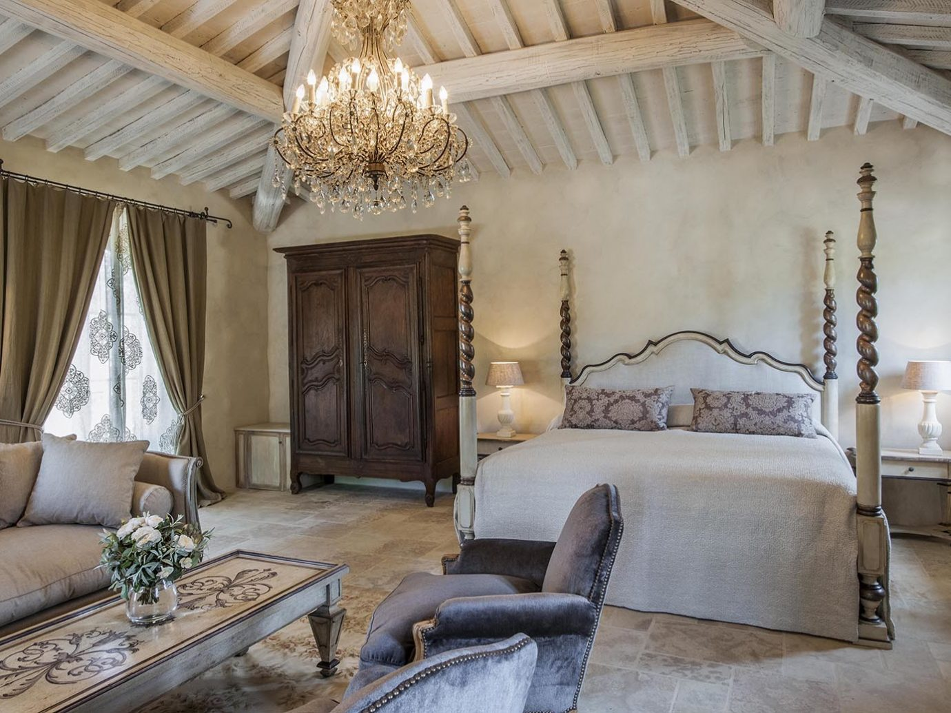 Bedroom at Borgo Santo Pietro